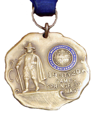 Howard Drew's actual gold medal from Springfield City Games, July 4 1920