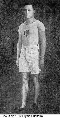 Howard Drew in 1912 Olympic Uniform