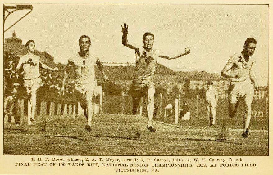 Howard Drew wins 1912 National Senior Championships