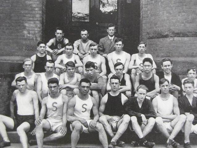 Howard Drew with Springfield HS Track Team, 1911
